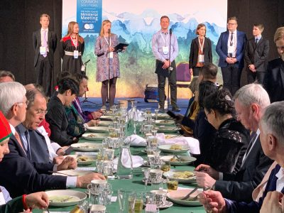 AYN Members speaking at the November 2019 Arctic Council Ministerial meetings.